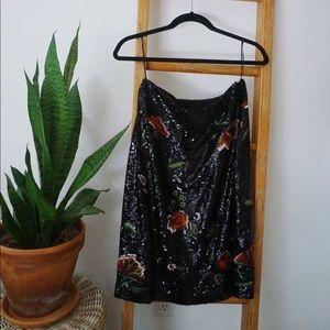 Anthropologie Maeve Garden Glitz skirt